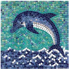 Amazon.com: Mosaic Kit 7'' Square, 20x20cm, Dolphin: Home & Kitchen