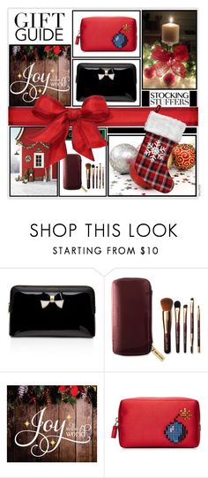 """""""Gift Guide: Stocking Stuffers"""" by mcheffer ❤ liked on Polyvore featuring beauty, Ted Baker, Bobbi Brown Cosmetics, Anya Hindmarch and giftguide"""