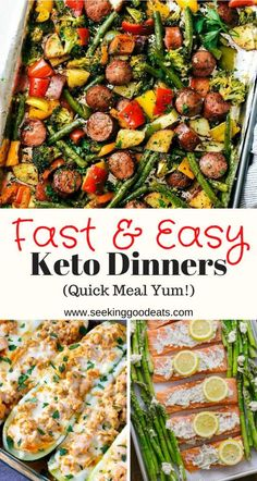 Quick and easy low carb and keto dinner recipes that are not only the best keto .Quick and easy low carb and keto dinner recipes that are not only the best keto comfort food recipes for dinner, they also make ideal healthy low carb and keto me Cena Keto, Diet Food List, Keto Diet For Beginners, Keto Dinner, No Carb Dinner Recipes, Dinner Healthy, Quick Meals For Dinner, Best Healthy Dinner Recipes, Keto Lunch Ideas