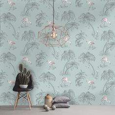 A flamingo wallpaper print in grey from the Imaginarium Wallpaper Collection. Go Wallpaper UK stock a wide range of Holden Decor wallpaper. Pink Bedroom Decor, Pink Bedrooms, Bedroom Ideas, Bedroom Inspo, Bedroom Colors, Bedroom Inspiration, Girls Bedroom, Master Bedroom, Flamingo Wallpaper