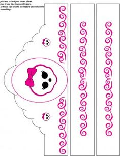 Monster High Crown, Monster High, Party Hats - Free Printable Ideas from Family Shoppingbag.com