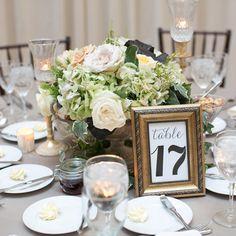 Rose hydrangea centerpiece // Lark Photography // Centerpiece: Richard Remiard Design // http://www.theknot.com/weddings/album/a-timeless-romantic-wedding-in-chicago-il-133352