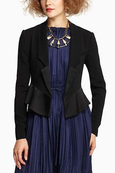 Love this jacket, just not with this outfit - Cropped Tuxedo Jacket - Anthropologie.com