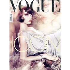 Vogue Italia April 2008 Cover ❤ liked on Polyvore featuring magazine, models, people, backgrounds and magazine covers