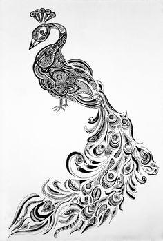 Lauren Chavez: peacock doodle - henna inspired