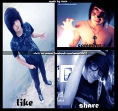 """The guy in the second picture to the right, the """"share"""" guy, is freaking beautiful."""