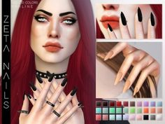 Zeta Nails by Praline Sims for The Sims 4