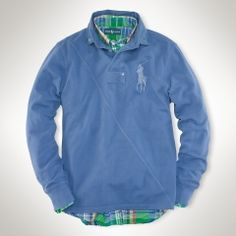 rugby toning down a plaid undershirt, complementary colors Mens Rugby Shirts, Polo Shirts, Polo Jackets, Gq Fashion, Boys Wear, My Guy, Sweater Weather, Mens Suits, Casual Shirts