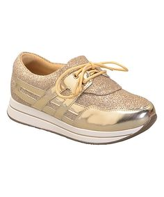 Look at this Floricienta Gold Adilen Sparkle Sneaker on  zulily today!  Metallic Sneakers 706c91b18