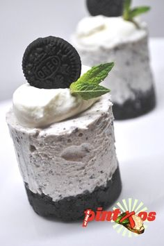Mini cheese cake de oreo