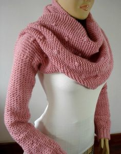 SCARF with Sleeves KNITTING PATTERN  Celine by LiliaCraftParty