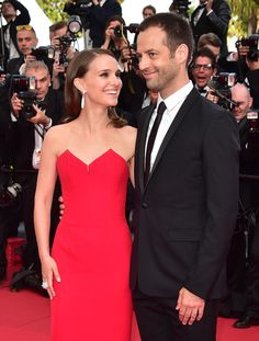 Natalie Portman and her husband Benjamin Millepied at the 2015 Cannes Film Festival.