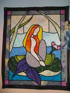 this is a stained glass quilt i sewed, crafts