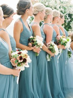Beach bridesmaids in blue teal dresses - A Classic Wedding on the Beach in Oregon Jade Bridesmaid Dresses, Beach Wedding Bridesmaids, Beach Wedding Reception, Teal Dresses, Wedding Bells, Bridesmaid Ideas, Wedding Wishes, 2 Piece Wedding Dress, Wedding Party Dresses