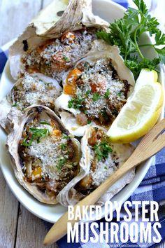 Baked Oyster Mushrooms (gluten-free vegan) - Fork & Beans