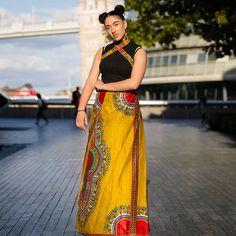 African Dress African Wrap Dress Dashiki Dress Full