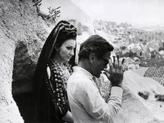 """Maria Callas e Pasolini sul set di """"Medea"""""""