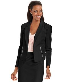 Grace Elements Jacket, Cropped Open-Front Blazer - Jackets & Blazers - Women - Macy's