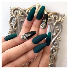 Sexy Dark Nails Art ✿ Include Acrylic Nails, Matte Nails, Stiletto Nails - Page 6 Coffin Nails Matte, Dark Nails, Stiletto Nails, Long Nails, Dark Nail Art, Short Nails, Dark Color Nails, Dark Colors, Solid Color Nails