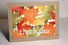 A Note To Thank You Card by Heather Nichols for Papertrey Ink (August 2013)