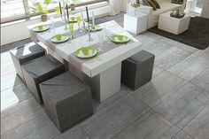 Concrete Effect Porcelain Floor Tiles 60x60 - Tons of Tiles