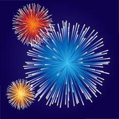 Vector brilliant fireworks (2)