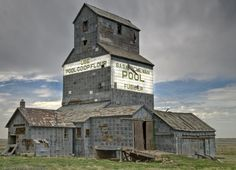 Abandoned Grain Elevator at Fusilier, Saskatchewan.