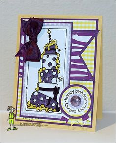 Birthday card featuring Bugaboo Stamps Tall Birthday Cake