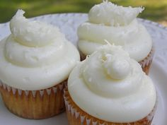 Pina Colada Cupcakes Ingredients: 1/4 cup coconut rum (or other rum) 1/2 cup cream of coconut 1 tsp vanilla 1 3/4 cup flour 2 1/2 tsp baking...