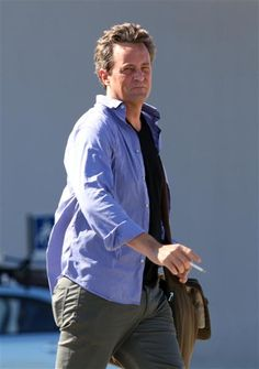 Did someone have a rough landing? Matthew Perry grimaced after disembarking from a flight to Cabo, Mexico, on Oct. 9, 2012.