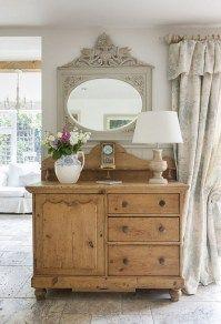 Vintage French Soul ~   Shabby chic farmhouse living room decor ideas 17
