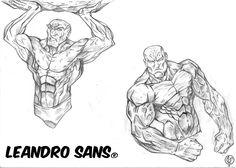 Study body male style comics  Ilustração: Leandro Sans Site: http://leandrosans.flavors.me Instagram: @leandro_sans