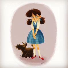 A Dorothy and Toto drawing from 2011. -OLI #elioli #elioli art #art ★ Find more at http://www.pinterest.com/competing/