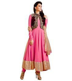 Naksh - ViVacious Pink Anarkali Suit