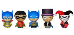 The Funko Dorbz Batman Vinyl Figure Bundle is here! Featuring - Blue Suit Batman, Robin, Batgirl, Harley Quinn, and Penguin. These pint-sized rascals will weasel their way into your heart as surely as they'll find their way onto your shelf! Figures stand approximately 3 inches tall! #funko #popvinyl #actionfigure #collectible #Dorbz #Batman #Bundle