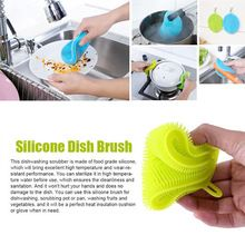 Clean home, healthy pets! Silicone Dish Washing Sponge Scrubber Cleaning Brushes Kitchen Cleaning  Antibacteria Kitchen Household Cleaning ToolsF929 --  #HouseholdCleaningTools
