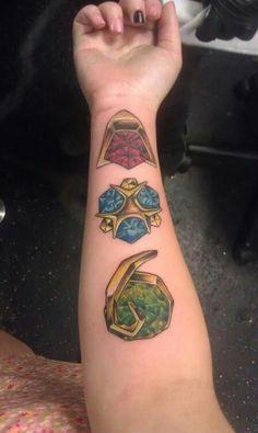 Spiritual stone tattoos- the legend of zelda