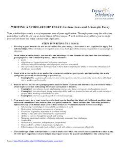 college admission essays examples