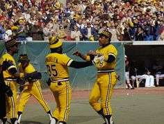 The Pittsburgh Pirates win the World Series over the Baltimore Orioles in seven games On This Day October 17 Baseball Uniforms, Baseball Players, Baseball Field, Baseball Stuff, Pittsburgh Sports, Pittsburgh Pirates, 1979 World Series, Baseball Photography, Pirates Baseball