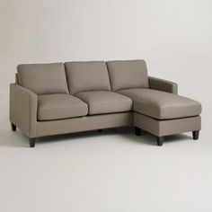 One of my favorite discoveries at WorldMarket.com: Dolphin Abbott Sofa for basement