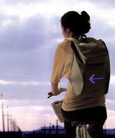 A backpack that lets you signal turns and stops as you ride