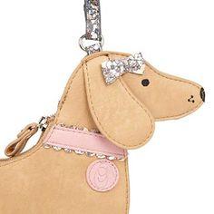 Tan dog shaped cross body bag