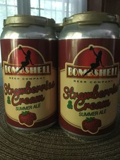 Delicious light summer all with just enough strawberry to not overwhelm. Bombshell beer co, NC. The first NC brewery owned by 100% women!