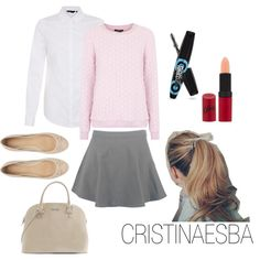 """""""Lady pink & nude"""" by cristinaesba on Polyvore"""