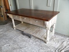 Great Kitchen Work Table With A Great Look, This Is What Country Is All  About. Made From Reclaimed Wood, Custom Made And Can Be Made Any Colour And  Size, ...