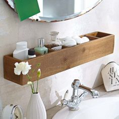 Creative storage bathroom ideas for space saving (50) #spacesavingfurniture