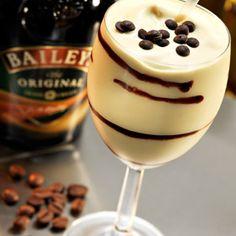 ✯ Frozen Mudslide: 2 oz vodka, 2 oz Kahlua, coffee liqueur, 2 oz Bailey's Irish cream, 6 oz vanilla ice cream. Blend alcohol with ice-cream ✯