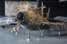 """Anselm Kiefer, installation view of """"For Louis-Ferdinand Céline: Voyage au bout de la nuit,"""" Copenhagen Contemporary 2016."""