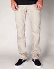 New York Slim Straight Mens Pants -