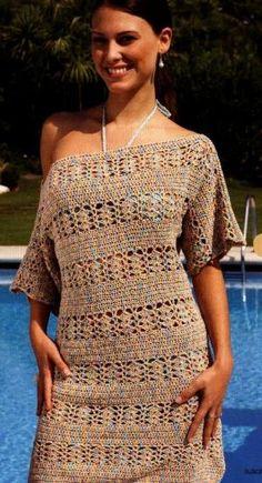 Пляжное платье крючком      ♪ ♪ ... #inspiration_crochet #diy GB